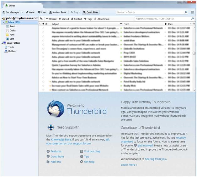Thunderbird Setting Screen 7
